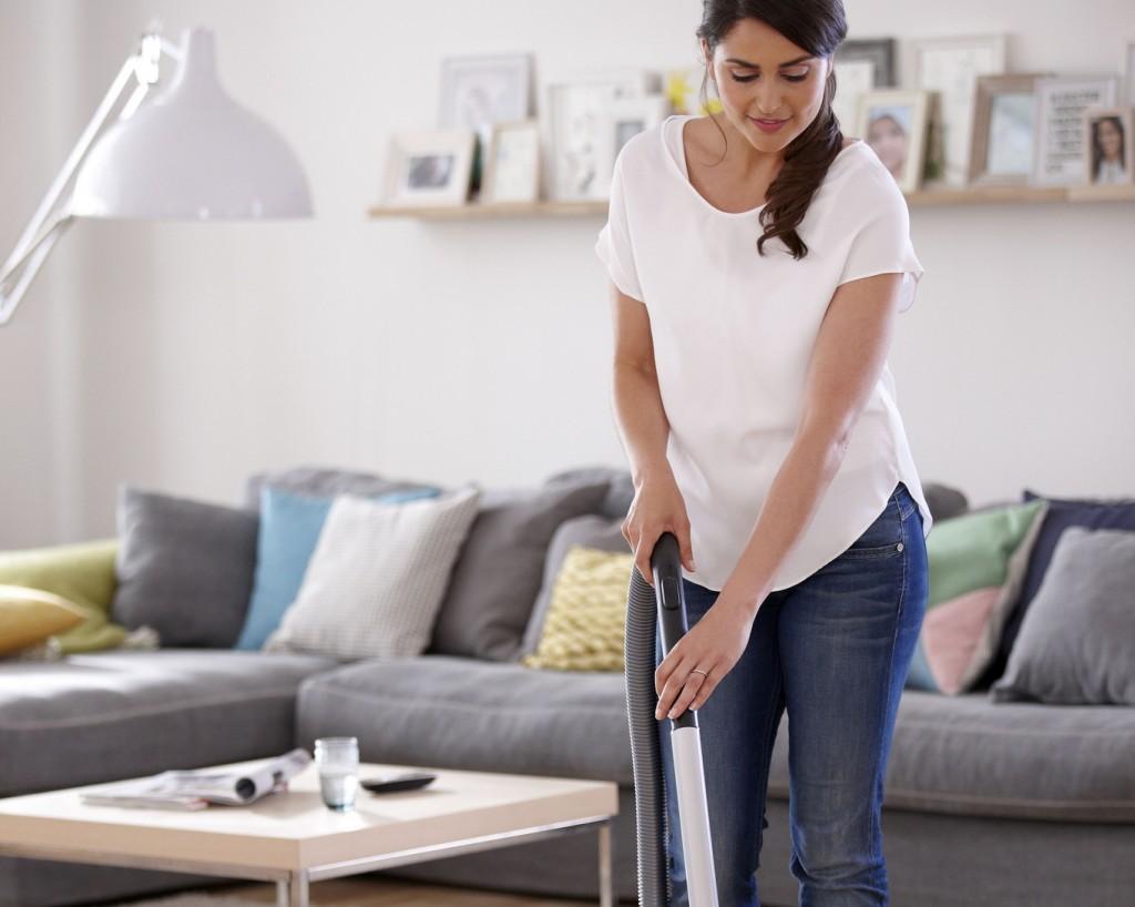 Woman Vacuuming San Antonio Maid Service
